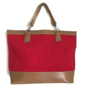 Lane Bryant Summer Red Tote Bag